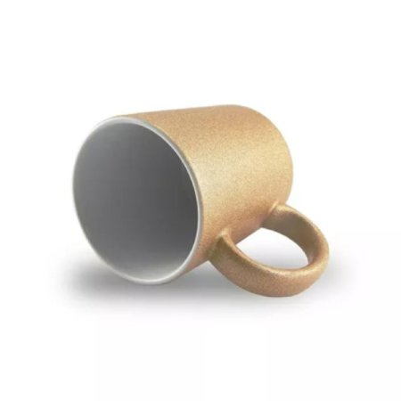 Caneca P/Sublimação Glitter Bronze