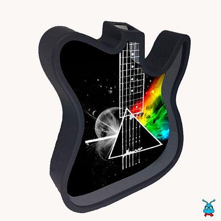 Guitarra Porta Rolhas ou Cofre em Polímero Preto P/ Sublimação
