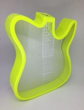 Guitarra Porta Rolhas ou Cofre em Polímero Amarelo Neon P/ Sublimação