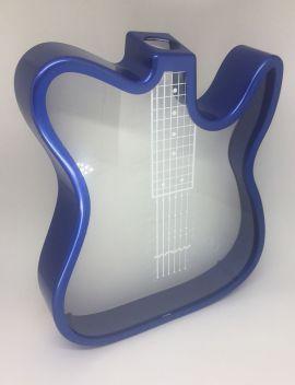 Guitarra Porta Rolhas ou Cofre em Polímero Azul P/ Sublimação