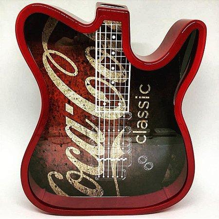 Guitarra Porta Rolhas ou Cofre em Polímero Verde  P/ Sublimação