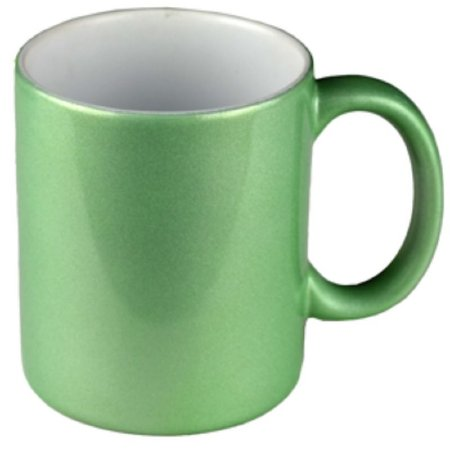 Caneca Perolada verde 325ml Resinada P/sublimação