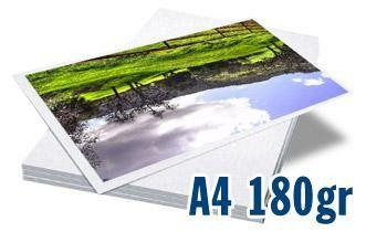 PAPEL FOTOGRÁFICO GLOSSY BRILHANTE DUPLA FACE   180G TAMANHO A4   PACOTE COM 20 FOLHAS