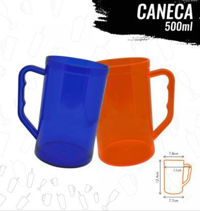 CANECA ACRILICA 500ML P/ TRANSFER