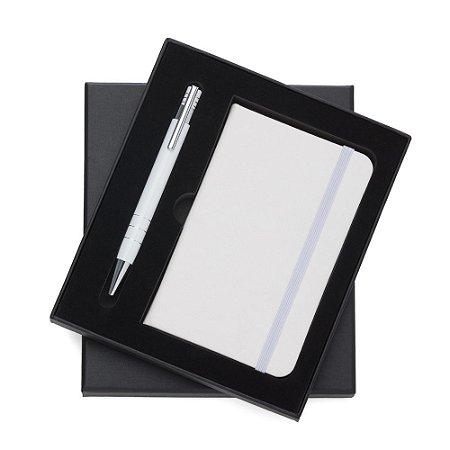 Conjunto Estojo e Caderneta tipo Moleskine Preto