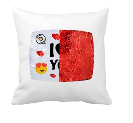 OBM - Aplique de Lantejoulas Retangular Vermelho e Branco - A4