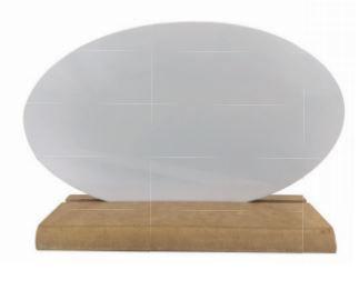 AZULEJO CERÂMICA OVAL BRANCO - 15 cm x 25 cm