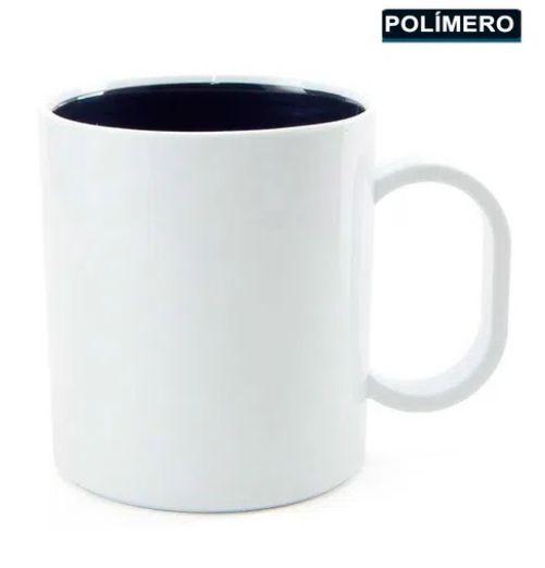 CANECA POLIMERO BRANCO INTERNA PRETO - TETEU