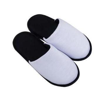 Pantufa para Sublimação Preto / Branco - Adulto