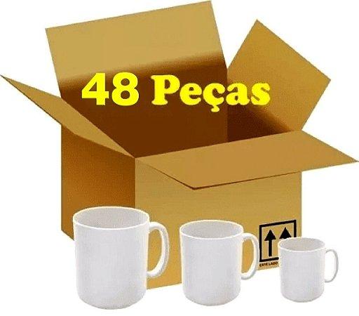 CX 48 CANECAS BRANCAS CLASSE AAA P/ SUBLIMAÇÃO MARCA LIVE PREMIUM