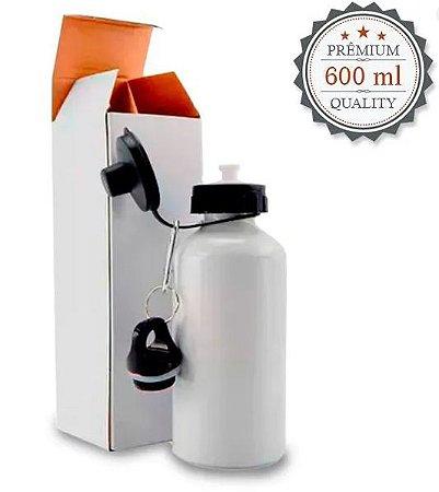 Squeeze de Alumínio Branco 2 Bicos para Sublimação + Caixinha - 600ml
