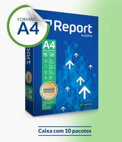 Papel Sulfite Report Premium A4 75g 500 folhas - Caixa com 10 pacote