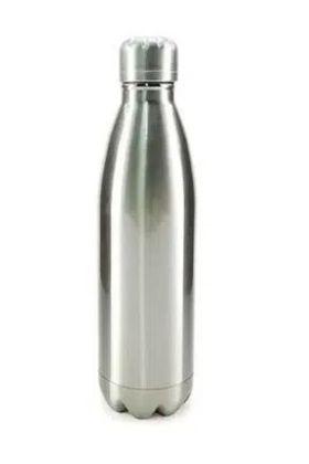 Garrafa Térmica para Sublimação em Aço Inox Prata com Parede Dupla - 500ml