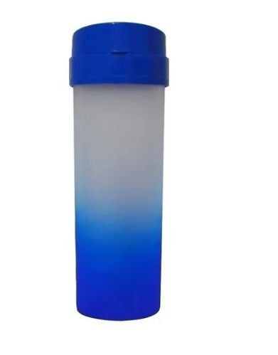 Garrafa Acqua Bio Degradê Azul Tampa Azul
