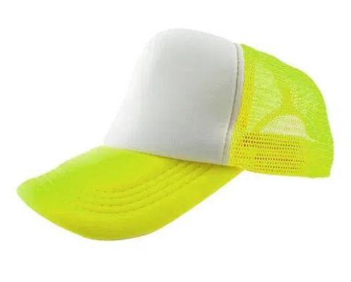 Boné de Tela com a Frente Branca para Sublimação Livesub - Amarelo Neon
