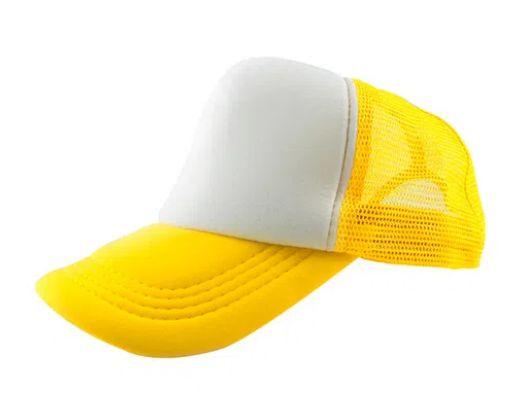 Boné de Tela com a Frente Branca para Sublimação Livesub - Amarelo
