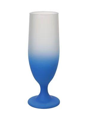 Copo Floripa Jateado Degrade Azul Para Sublimação