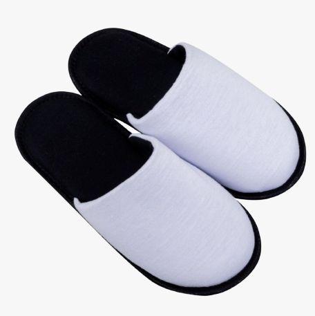 Pantufa para Sublimação Preto / Branco - Infantil