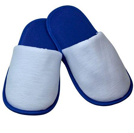 Pantufa para Sublimação Azul / Branco - Infantil