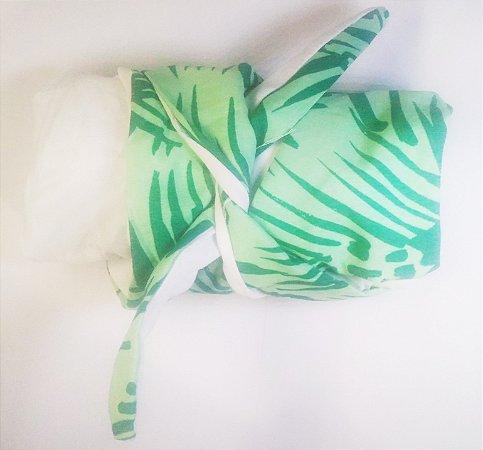 Turbante das Divas - Branco e verde