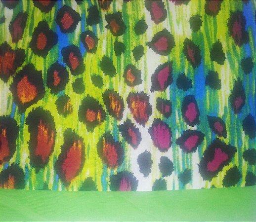 Turbante das Divas - Animal print verde