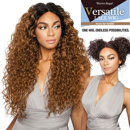 """Mane Concept Brown Sugar Versatile Lace Wig BSX03 Deep Wave 24"""" (COR: Preta)"""