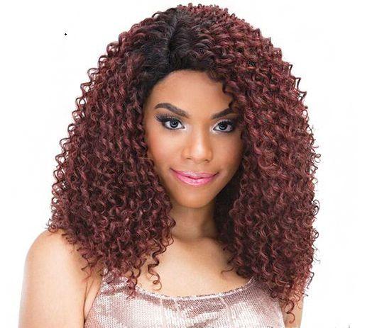 Lace front wig Luna - Cor 1B (preta)
