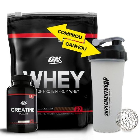 Kit Whey Optimun Nutrition 1.82lb + Creatiina 150g
