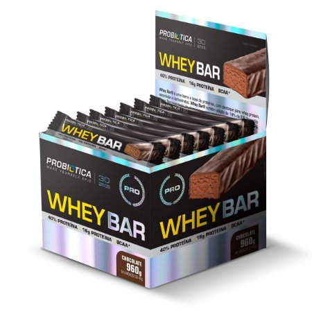 Whey Bar Low Carb caixa com 24 barras - Probiótica