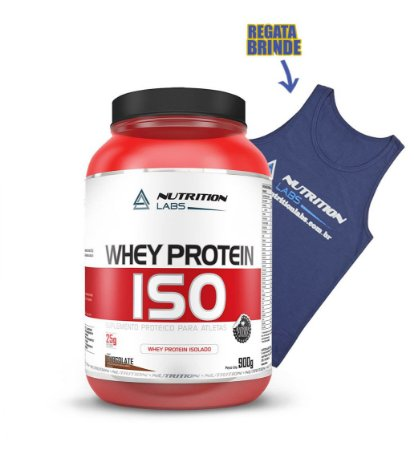 Whey Protein ISO- nutrition 900gr - Grátis Camiseta regata