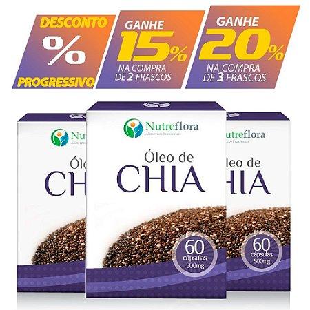 Óleo de Chia 500mg (60caps) - Nutreflora