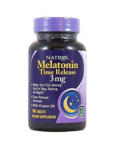 Melatonina Time Release - 3mg  (100 cáps)- natrol