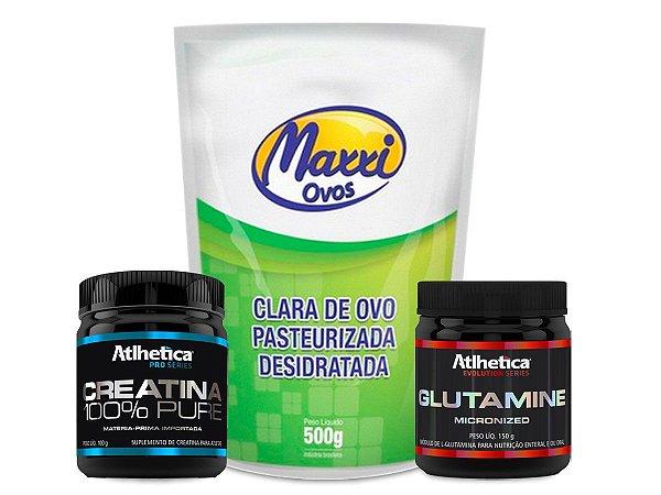 Combo - Albumina + Creatina + Glutamina