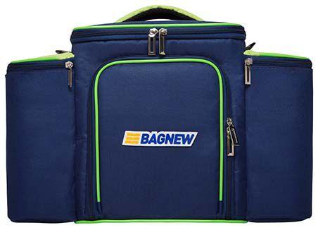 Bolsa Térmica Fitness Grande com acessórios - azul