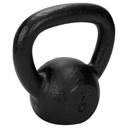 Kettlebell de 6kg de ferro da TURBO FITNESS