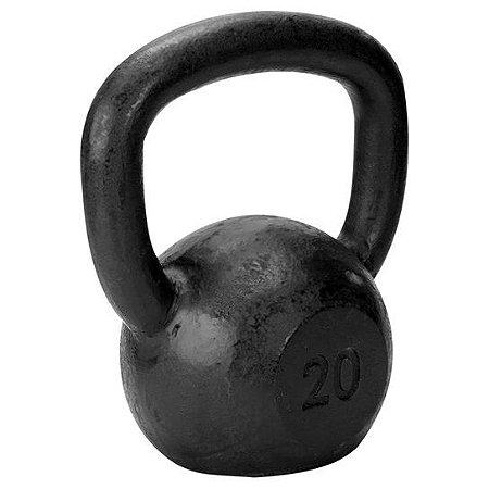 Kettlebell de 20 kg de ferro da TURBO FITNESS