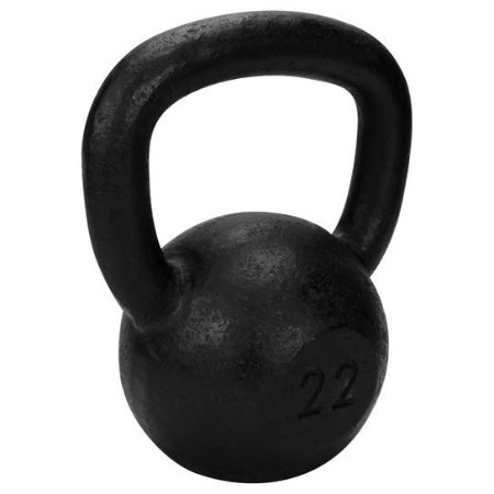 Kettlebell de 22kg de ferro da TURBO FITNESS