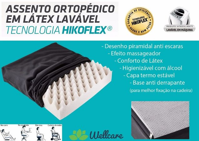 Almofada Assento Ortopédico Lavável 40x40