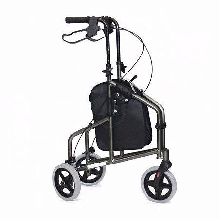 Andador 3 rodas Inspire Prata