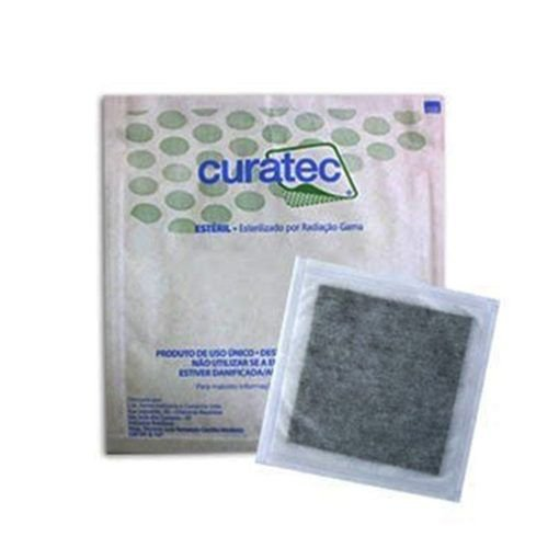 Curativo Carvão Ativado Com Prata Curatec 10,5X10,5