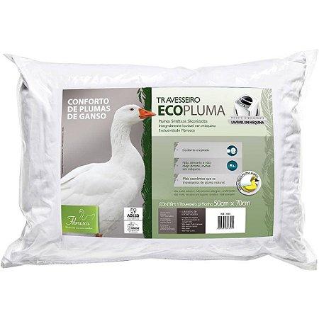 Travesseiro Ecopluma - Fibrasca Lavavél em Maquina de Lavar