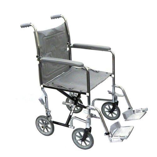 Cadeira de Rodas em Aço Cromado Comfort (CE-808N100SF-FB)