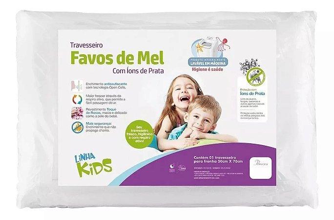 Travesseiro Favos De Mel Kids 10 Cm