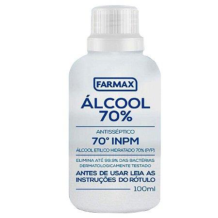 Álcool 70% Cosmético Antisséptico 100ml Farmax