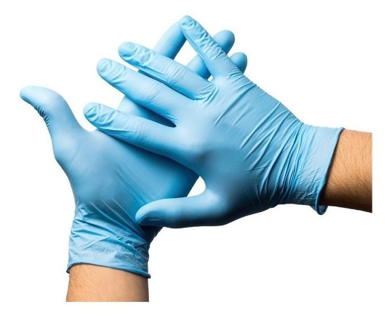 Luva Nitrilo Unigloves Blue EP Caixa 100 Unidades