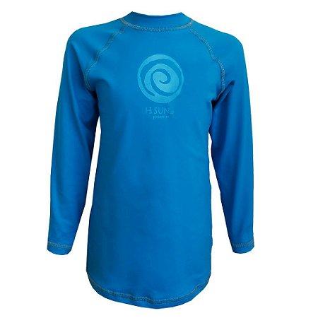 Camiseta Marine Manga Longa H.Sun Infantil Azul Tam:08