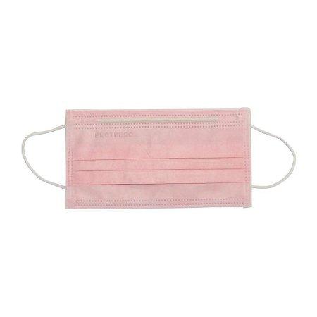 Mascara Tripla Rosa  Com Elástico e Clipe Nasal Dejamaro c/ 50