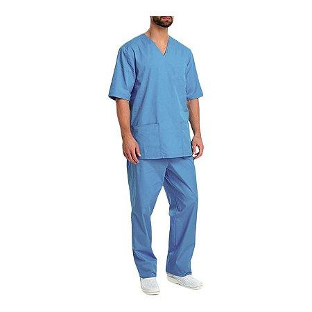 Pijama Cirúrgico Em Brim Leve Masculino Aquasonus