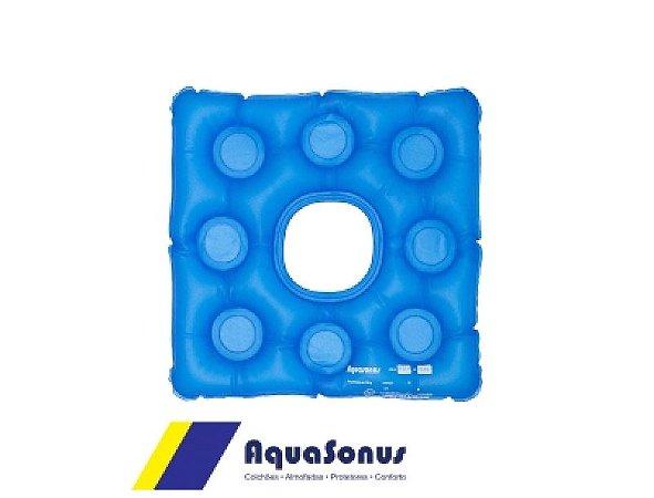 Forração Orto Almofada Gel Quadrada Com Orifício Aquasonus