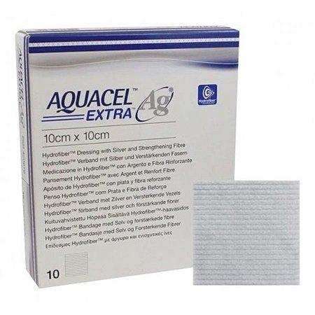 Curativo Aquacel Ag Extra Prata 10X10Cm  C/10  Br10212.Convat
